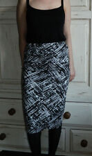 New Look midi black and white skirt, size 8 UK, 36 EUR, small, S
