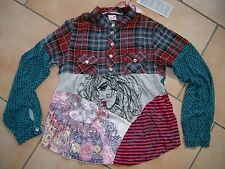 (393) Nolita Pocket Girls Materialmix Tunika Bluse Stickerei & Pailleten gr.140