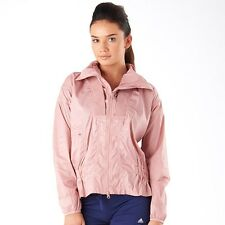 adidas Womens Stella McCartney Essentials Woven Jacket Band Aid Pink Size UK S