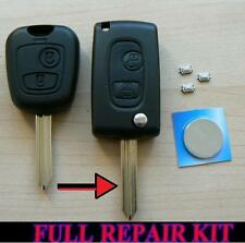 CITROEN SAXO XSARA PICASSO BERLINGO 2 BUTTON FLIP REMOTE KEY FOB CASE REPAIR KIT