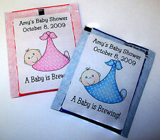 30 BABY SHOWER FAVORS TEA BAG LABELS