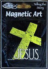Religous Car Stone Cross Magnet Refrigerator Locker Faith Church Decor Jesus