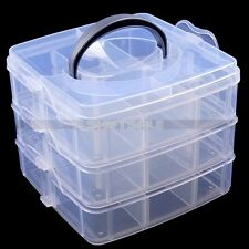 3 Layer Plastic Detachable Empty Box For Storage Nail Art Tip Crystal Rhinestone