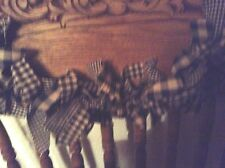 Country, primitive 3' black and tan garland, swag  hand tied