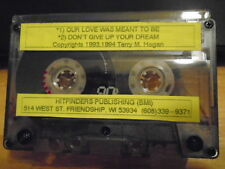 VERY RARE Terry M. Hogan DEMO CASSETTE TAPE pop 2trax 1994 Hitfinders Publishing