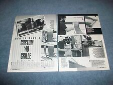 How-To Tech Info Article on Building a Billet Custom Grille for 1940 Ford