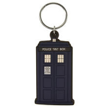 Official Doctor Who TARDIS Rubber Flexible Keyring - Retro Police Box Retro Gift