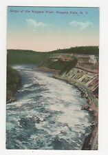 USA, Gorge of Niagara River, Niagara Falls NY Postcard, A809