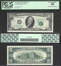 $10 1969 Frn=Major Faulty Alignment=Dramatic=Error= Pcgs Extremely Fine 40