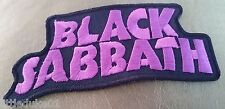 BLACK SABBATH  Patch Embroidered NEW Rock Heavy Metal