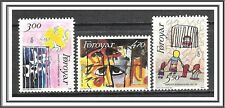 Faroe Islands #145-147 Artwork MNH