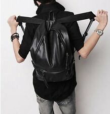 Men's Premium Genuine Real Leather Fashion Backpack Travel Outdoor Sports Bag