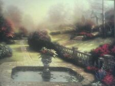 Gardens Beyond Autumn Gate Print by Thomas Kinkade in 11 x 14 Matte with COA