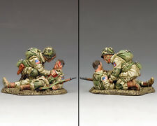 KING AND COUNTRY WW2 US Paratroopers Blast Injury (82nd Airborne) D Day DD287-1