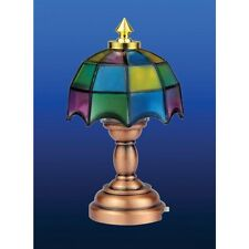 Dolls House Miniatures 1/12 scale Tiffany Table Lamp LED No wiring Needed DE310
