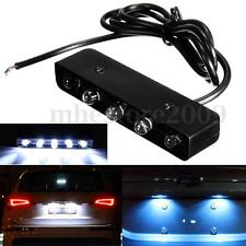 12V Moto Car 5 LED Blanc Lampe Feux Plaque Immatriculation Licence Plate Light