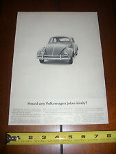 1963 VOLKSWAGEN VW BEETLE BUG  - ORIGINAL AD LITERATURE