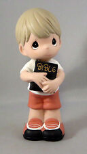 The Lord Is My Strength Boy Precious Moments Bible Figurine New