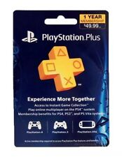 Sony PlayStation Plus 1 Year Membership Subscription Mail Paper