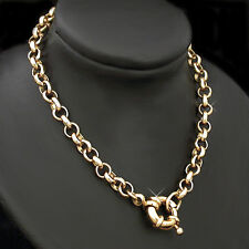 """18""""- 4.5mm BELCHER Link BOLT RING Clasp 14K Gold Layered 18"""" NECKLACE ~ NEW"""