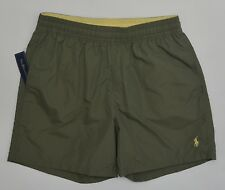 Men's POLO RALPH LAUREN Olive Green Drab Swimsuit Trunks Large L NWT NEW