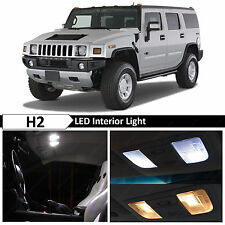 16x White Interior LED Lights Package Kit for 2003-2009 Hummer H2 + TOOL