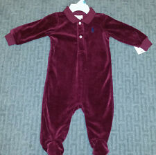 Ralph Lauren. Boys 6M Maroon Valore Footed Coverall NWT