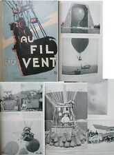 Au fil du vent. L'idée aérienne par F Peyrey 1909 signé par l'auteur