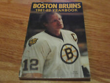 1981-82 BOSTON BRUINS Yearbook RAY BOURQUE STAN JONATHAN TERRY O'REILLY PARK