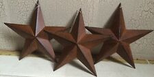 "(Set of 6 ) RUSTY BLACK BARN STARS 8"" PRIMITIVE COUNTRY DECOR - FREE SHIPPING!"