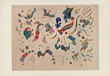 "1958 Vintage KANDINSKY ""RELATIONS"" FABULOUS ABSTRACT COLOR Art Print Lithograph"