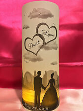 10 Personalized Cityscape Wedding Luminaries Table Centerpieces Decorations