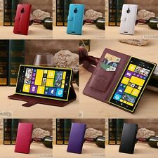 Custodia Cover compatibile con Nokia Lumia 1520 Stand Pelle Luxury