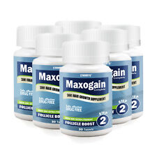 6 Month Mens Follicle Boost Hair Growth 3in1 Tablets Maxogain (6x30)