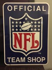 Vintage 1980's Huge NFL Logo Official Team Shop Sign From Jersey
