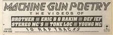 16/12/89Pgn48 Advert: 'machine Gun Poetry' The Videos Of Tone Loc & More 3x11