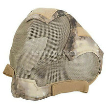 Airsoft Tactical Hunting Paintball Wire Mesh Full Face Protection Mask A-Tacs