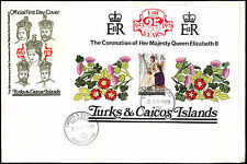 Turks & Caicos Is. 1978 QEII, 25th Anniv Of Coronation M/S FDC #C35162