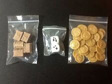 Masmorra 5 Kickstarter Exclusive Chests, 30 Plastic Coins, 2 Pet Dice Cmon Board