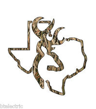 Camo Texas Deer Hunting Realtree Decal Window Sticker Vinyl Yeti Browning - 5""