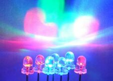 50pcs 5mm SLOW Bright Blinking Tri-Color RGB LED diode  2pin