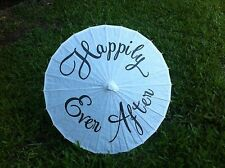 Happily Ever After Wedding Parasol - White - Wedding Photo Prop - Decoration
