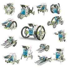 14 In 1 Creative DIY Assemble Educational Solar Transformers Robot Kit Toy Gift