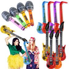 Inflatable Guitar Saxophone Microphone Blow Up Fancy Dress Party Prop lot UK SLR