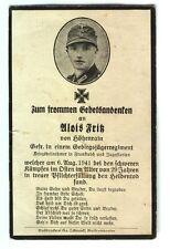 209.) Sterbebild Grenadier - verstorben im Lazarett 1945 in Deutschland