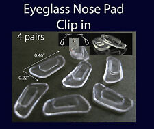 4 pairs High Quality eyeglass NOSE PADS clip in  SILICONE  US Seller