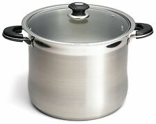 Prime Pacific 18/10 Stainless Steel 20 Quart Stock Pot With Glass Lid free ship