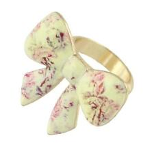 LARGE ENAMELLED BOW RING - SIZE 7.5 - 30 x 25mm - FREE P&P........CG0076