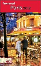 BOOK PB Traveling Tour Guide France W/Pocket Map FROMMER'S PARIS 2012