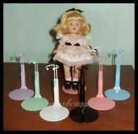 """6 Kaiser RAINBOW Miniature Doll Stands for 5.5"""" MINI GINNY U.S. Ships Free"""